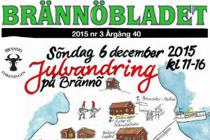 Brännöbladets framsida julen 2015
