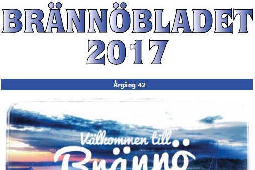 Brännöbladets framsida sommar 2017