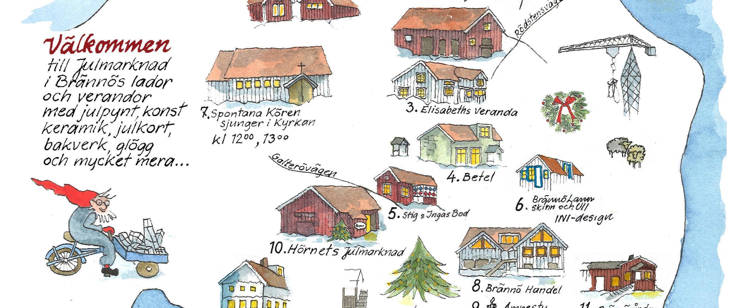 Julvandring på Brännö 2:a advent